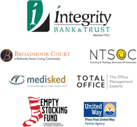 a grouping of logos including Integrity Bank and Empty Stocking Fund